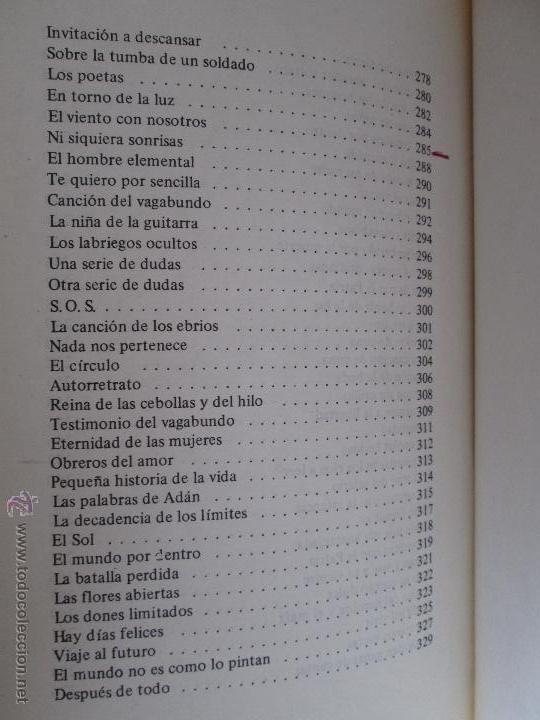Libros de segunda mano: CARLOS CASTRO SAAVEDRA. POEMAS ESCOGIDOS 1946 - 1974. - Foto 15 - 48936325