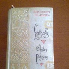 Libros de segunda mano: OBRAS POÉTICAS, ESPRONCEDA. Lote 48950370