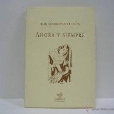 Libros de segunda mano: LUIS ALBERTO DE CUENCA. AHORA Y SIEMPRE. PRIMERA EDICIÓN. Lote 48973039