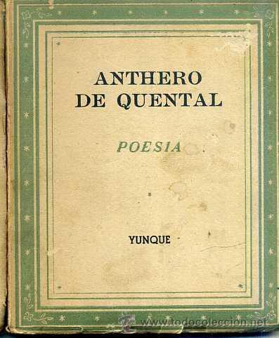 ANTHERO DE QUENTAL : POESÍA (YUNQUE, 1940) (Libros de Segunda Mano (posteriores a 1936) - Literatura - Poesía)