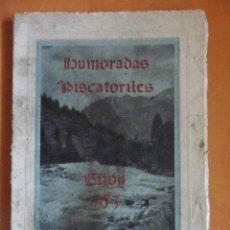 Libros de segunda mano: HUMORADAS PISCATORILES. GIJON 1953. LIBRITO DE TAPA BLANDA Y 96 PAGINAS. VARIOS AUTORES: PERICO RIBE. Lote 49410001