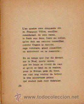 Libros de segunda mano: FRANÇOIS VILLON. POESÍA. SELECCIÓN Y TRADUCCIÓN DE MARÍA HÉCTOR. EDITORIAL YUNQUE. 1940 - Foto 3 - 50413146