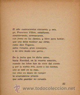 Libros de segunda mano: FRANÇOIS VILLON. POESÍA. SELECCIÓN Y TRADUCCIÓN DE MARÍA HÉCTOR. EDITORIAL YUNQUE. 1940 - Foto 4 - 50413146