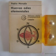 Libros de segunda mano - PABLO NERUDA. NUEVAS ODAS ELEMENTALES. EDITORIAL LOSADA 1971 - 50676045