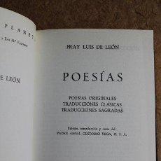Libros de segunda mano: POESÍAS ORIGINALES. POESÍAS TRADICIONALES. TRADUCCIONES CLÁSICAS. TRADUCCIONES SAGRADAS.. Lote 51358574