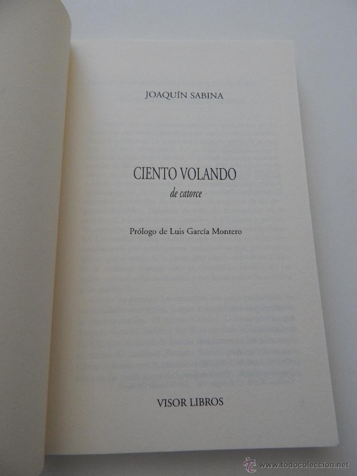 Libros de segunda mano: Ciento volando de catorce - Joaquín Sabina, 2002 - Foto 4 - 51414893