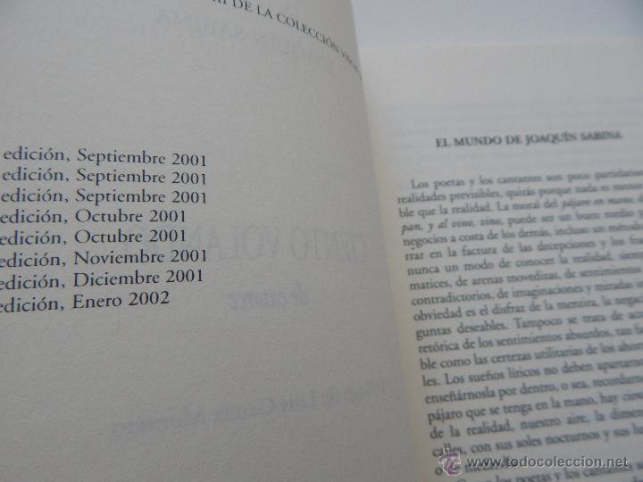 Libros de segunda mano: Ciento volando de catorce - Joaquín Sabina, 2002 - Foto 5 - 51414893
