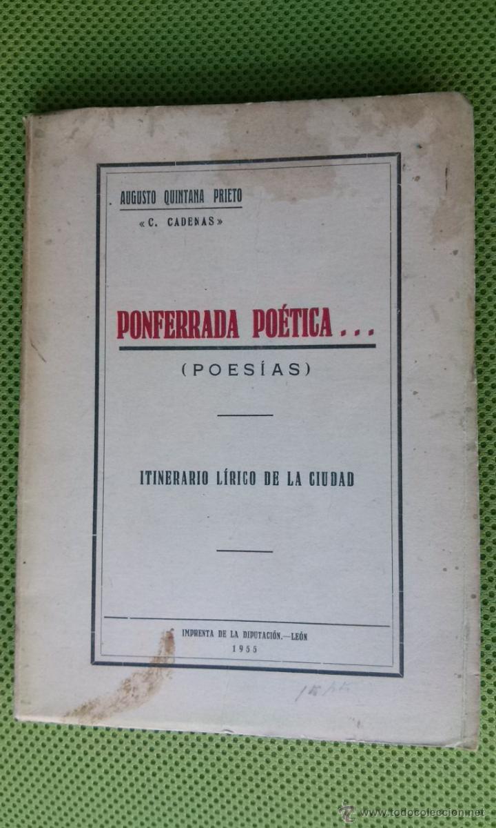 PONFERRADA POÉTICA, ITINERARIO LÍRICO DE LA CIUDAD (Libros de Segunda Mano (posteriores a 1936) - Literatura - Poesía)