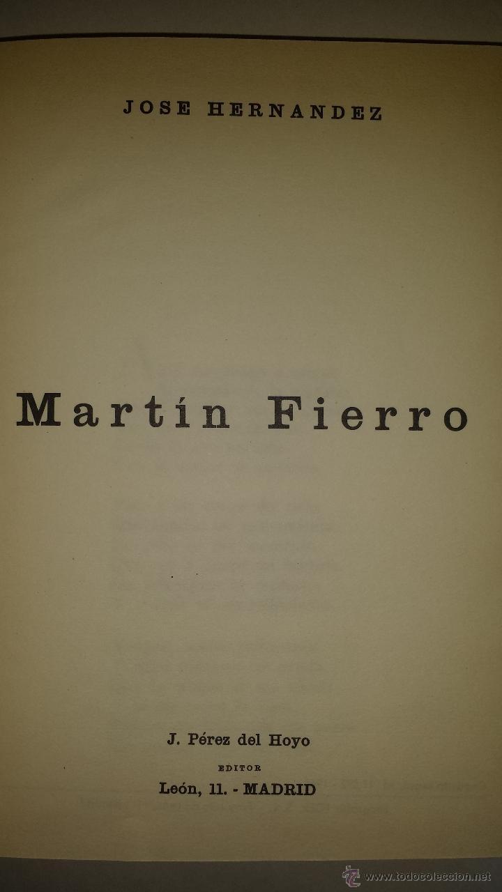 Libros de segunda mano: MARTIN FIERRO 1966 - Foto 2 - 52766385