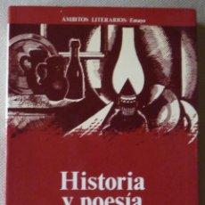 Libros de segunda mano: JOSÉ LUIS CANO. HISTORIA Y POESÍA.ENSAYO. POESÍA ESPAÑOLA.. Lote 52961145