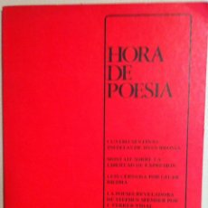 Libros de segunda mano: HORA DE POESÍA Nº 1. 1978. Lote 53304576