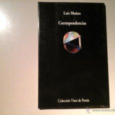 Libros de segunda mano: LUIS MUÑOZ. CORRESPONDENCIAS. PRIMERA EDICIÓN 2001. VISOR POESÍA. III PREMIO GENERACIÓN DEL 27.. Lote 53378948