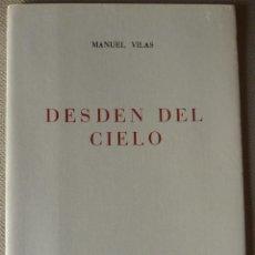Libros de segunda mano: MANUEL VILAS. DESDÉN DEL CIELO. CUADERNOS DE POESÍA SCRIPTVM. POESÍA ESPAÑOLA. CANTABRIA.. Lote 53459523