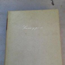 Libros de segunda mano: LIBRO - POESIA Y PROSA ( FRANCISCO DE QUEVEDO ). Lote 53541387