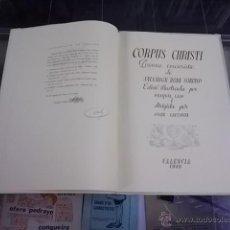 Libros de segunda mano: 3673.- CORPUS CHRISTI-POEMA EUCARISTIC DE SALVADOR RODA SORIANO-VALENCIA 1949. Lote 53729284