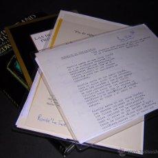 Libros de segunda mano: LUIS ANTONIO DE VILLENA - POEMA MANUSCRITO INÉDITO, MÁS OTROS LIBROS Y PAPELES. Lote 53750672