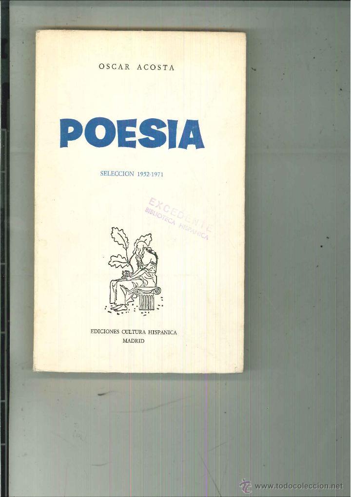 Poes a oscar acosta comprar libros de poes a en todocoleccion 53770558 - Libreria segunda mano online ...