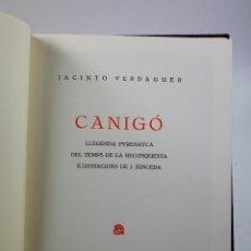 Libros de segunda mano: CANIGÓ, JACINTO VERDAGUER, ILUSTRACIONS DE JUNCEDA, NUMERAT. 79/200. AUSA ED. 1985. Lote 54047993