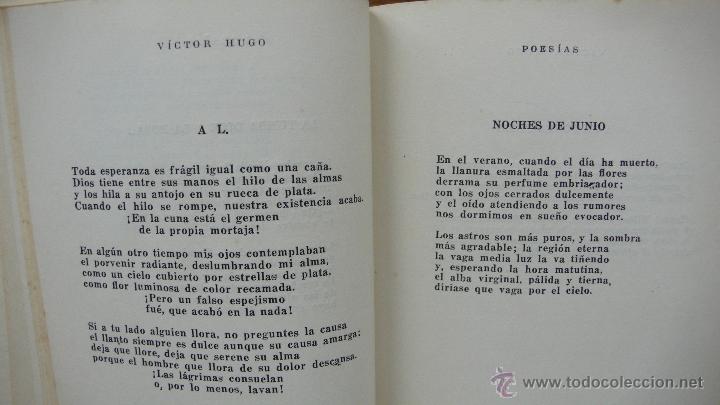 Libros de segunda mano: POESÍAS. VÍCTOR HUGO. 1955. - Foto 3 - 54195210