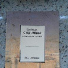 Libros de segunda mano: TEMAS VIZCAINOS 218 ESTABAN CALLE ITURRINI. CENTENARIO DE UN POETA. Lote 55038155