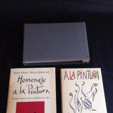 Libros de segunda mano: HOMENAJE A LA PINTURA+ A LA PINTURA, R. ALBERTI-R. MOTHERWELL ED.LIMITADA Nº 338 FIRMADA POR ALBERTI. Lote 55043614