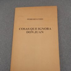 Libros de segunda mano: COSAS QUE IGNORA DON JUAN. Lote 55123543