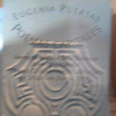 Libros de segunda mano: POEMAS CAPITALES, EUGENIA PUERTAS, ED. HUERGA Y FIERRO. Lote 55362097