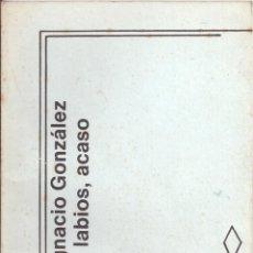 Libros de segunda mano: OTROS LABIOS, ACASO. DE JUAN IGNACIO GONZÁLEZ. Lote 55402961