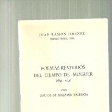 Libros de segunda mano: 2184.-JUAN RAMON JIMENEZ-POEMAS REVIVIDOS DEL TIEMPO DE MOGUER-DIBUJOS DE BENJAMIN PALENCIA. Lote 56630116