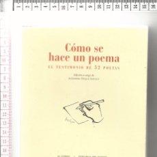 Libros de segunda mano: 17.18 LIBRO PRIMERA EDICION, COMO SE HACE UN POEMA, TESTIMONIO DE 52 POETAS, EL CIERVO. Lote 56899294