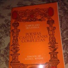 Libros de segunda mano: POESIAS CASTELLANAS COMPLETAS. Lote 57235473