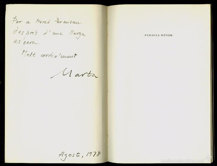 VIDA PRIVADA - 1972 - MARTA PESSARRODONA - SIGNAT I DEDICAT (Libros de Segunda Mano (posteriores a 1936) - Literatura - Poesía)
