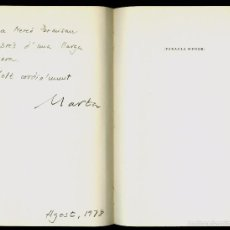 Libros de segunda mano: VIDA PRIVADA - 1972 - MARTA PESSARRODONA - SIGNAT I DEDICAT . Lote 57258879