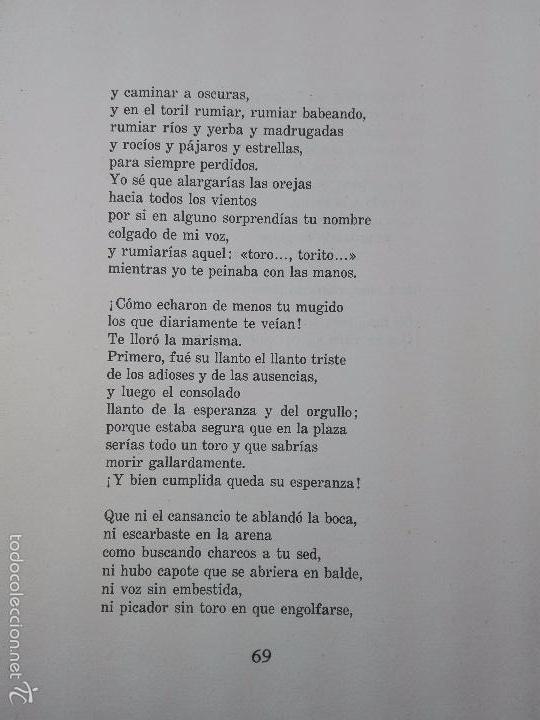 Libros de segunda mano: CUANDO PASA EL TORO - MANUEL BENITEZ CARRASCO - DECICADO Y FIRMADO - 25 X 17 CM. - 112 PP.- - Foto 6 - 57272669
