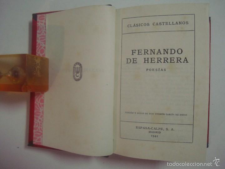 Libros de segunda mano: FERNANDO DE HERRERA. PADRE AROLAS. POESIAS. 1941. LUJOSA EDICIÓN. - Foto 4 - 57291510
