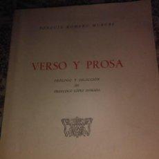 Libros de segunda mano: VERSO Y PROSA. Lote 57485387