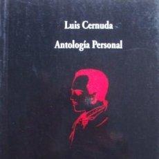 Libros de segunda mano: ANTOLOGÍA PERSONAL/LUIS CERNUDA - VISOR. Lote 57567662