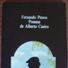 Libros de segunda mano: PESSOA: POEMAS DE ALBERTO DE CAEIRO (ED. BILINGÜE) - MADRID, ALBERTO CORAZÓN, COLECC. VISOR, 1980. Lote 55969238