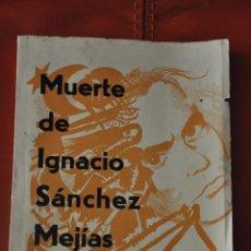 Libros de segunda mano: MUERTE DE IGNACIO SANCHEZ MEJÍAS , POESIA XILOGRAFIADA MANOLO GARVAYO , MÁLAGA. Lote 57761992