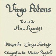 Libros de segunda mano: VIRGO POTENS - ROSSETTI, ANA. Lote 58002167