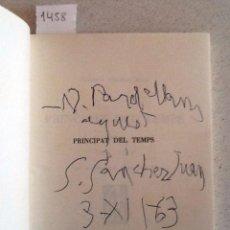 Libros de segunda mano: PRINCIPAT DEL TEMPS. POEMES 1939-1961. SEBASTIA SANCHEZ JUAN. DIBUIX MARIA DELS REIS. Lote 58221401