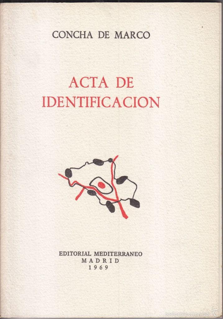 concha de marco. acta de identificación. madrid - Comprar Libros de ...