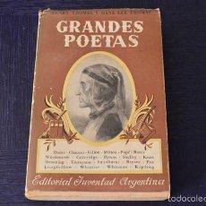 Libros de segunda mano: GRANDES POETAS - HENRY THOMAS Y DANA LEE THOMAS. Lote 58385763