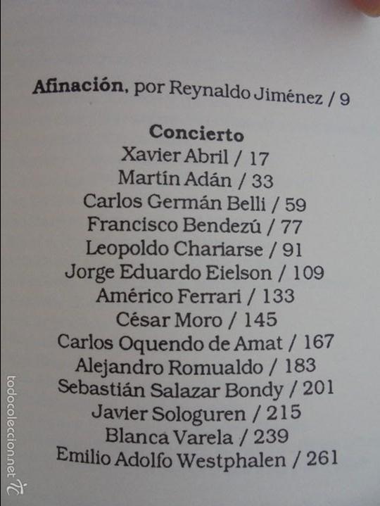 Libros de segunda mano: CATORCE POETAS DEL PERU. EL LIBRO DE UNOS SONIDOS. REYNALDO JIMENEZ. - Foto 17 - 58500800