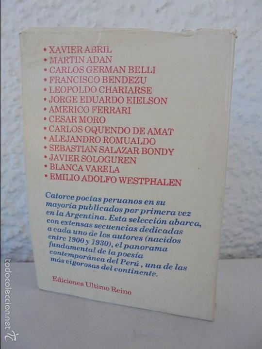 Libros de segunda mano: CATORCE POETAS DEL PERU. EL LIBRO DE UNOS SONIDOS. REYNALDO JIMENEZ. - Foto 19 - 58500800
