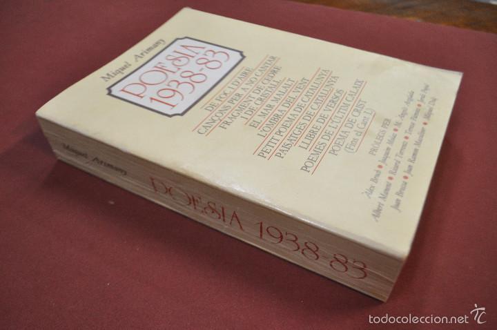 Libros de segunda mano: Poesia 1938-83 - Miquel ARIMANY - dedicat i signat per l'autor - Foto 2 - 59655567