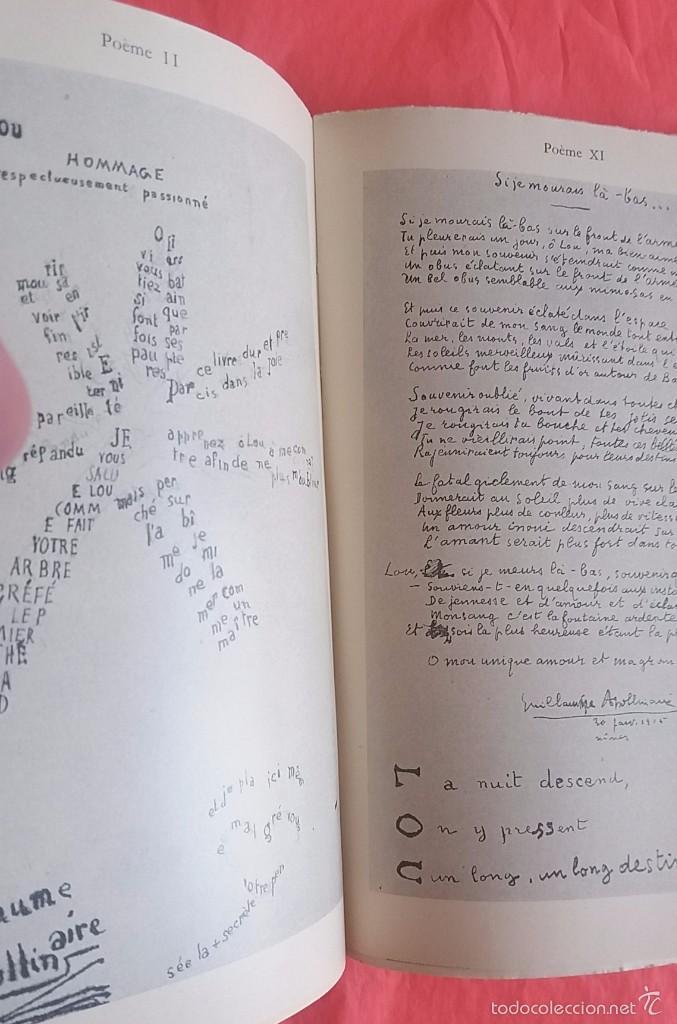 1947 Ombre De Mon Amour Guillaume Apollinaire Poemes Laminas Fotográficas De Sus Textos Y Dibujos