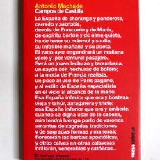 Libros de segunda mano: CAMPOS DE CASTILLA - ANTONIO MACHADO. Lote 60682323