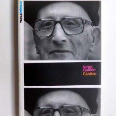 Libros de segunda mano: CÁNTICO - JORGE GUILLÉN - LIBROS A MEDIO EURO - (PEDIDO MÍNIMO 3 EUROS). Lote 60682359