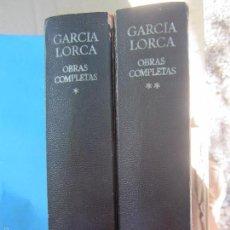 Libros de segunda mano: GARCIA LORCA , OBRAS COMPLETAS, EN 2 TOMOS , PROLOGO , AGUILAR 1974. Lote 60852879